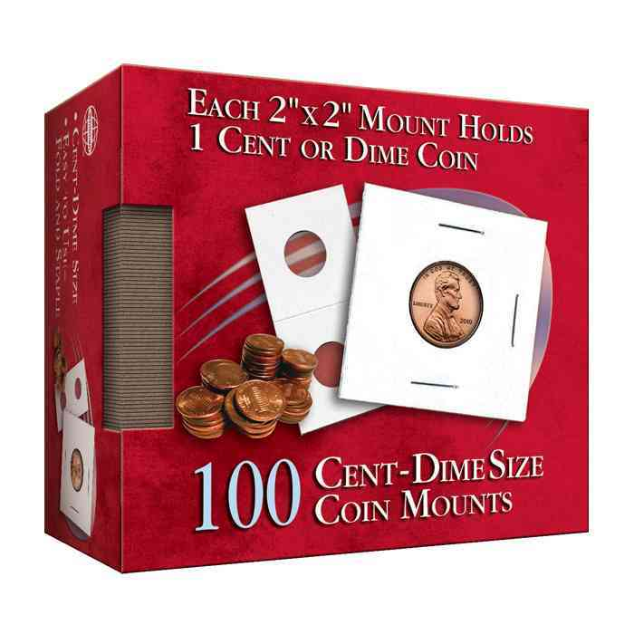 Cent-Dime 2x2 Coin Mount Cube By Whitman Publishing (COR)